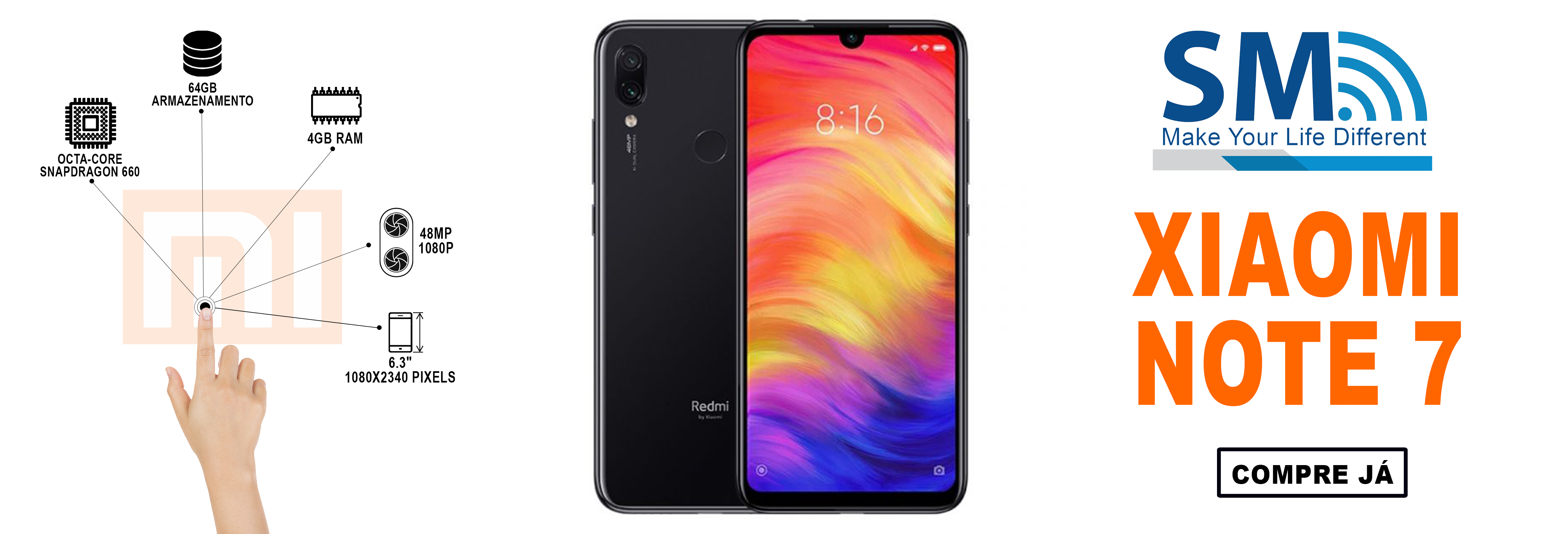 Xiaomi Redmi Note 7 Dual SIM 4GB/64GB Black